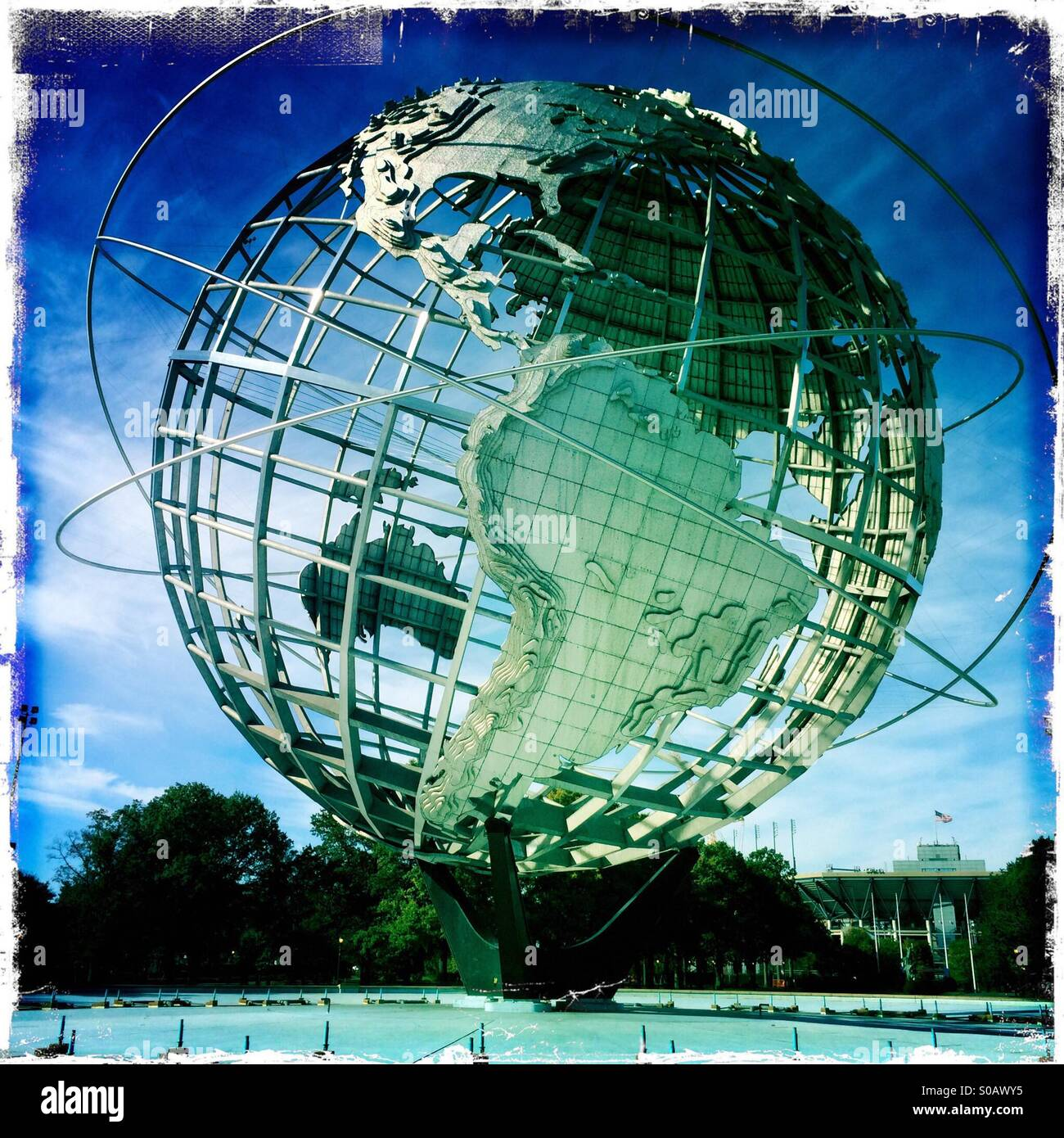 The Unisphere Monument At The 1964 New York World Fair Site At