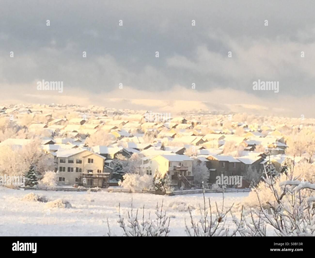ShowWhite village - Stock Image