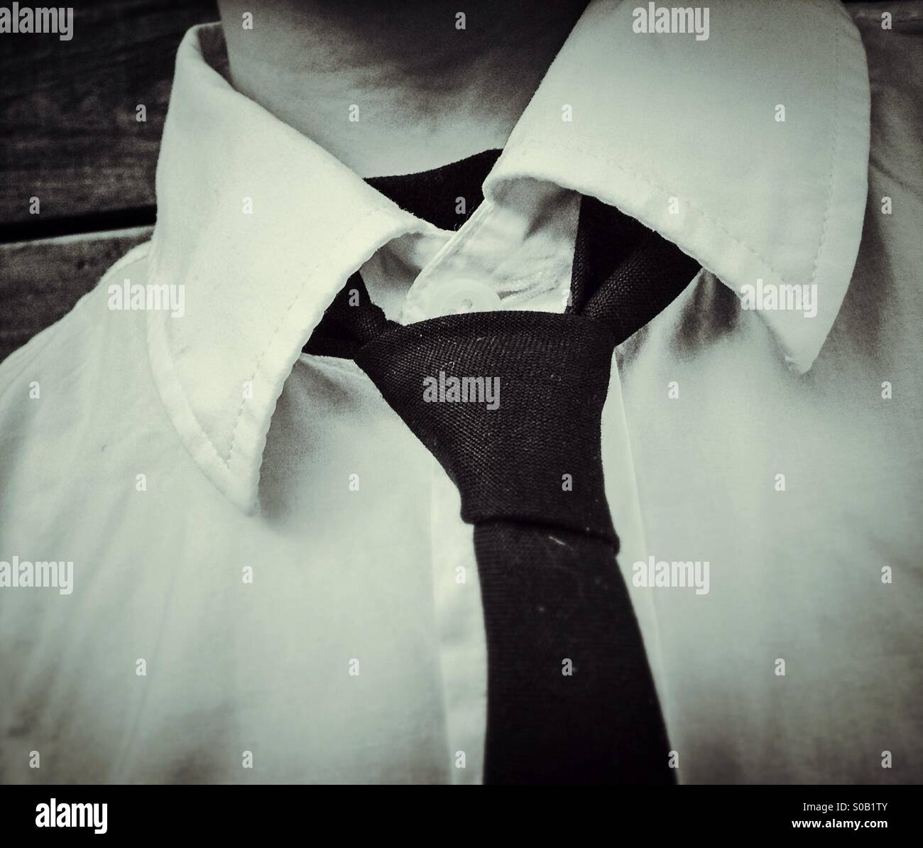 Man with shirt and tie Stock Photo