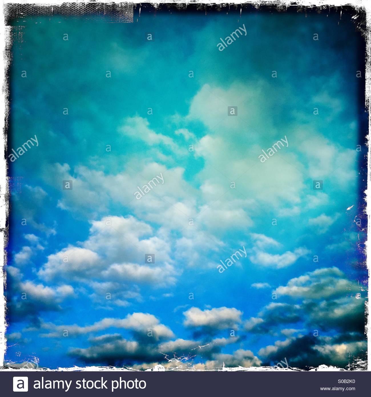 Blue arty Sky - Stock Image