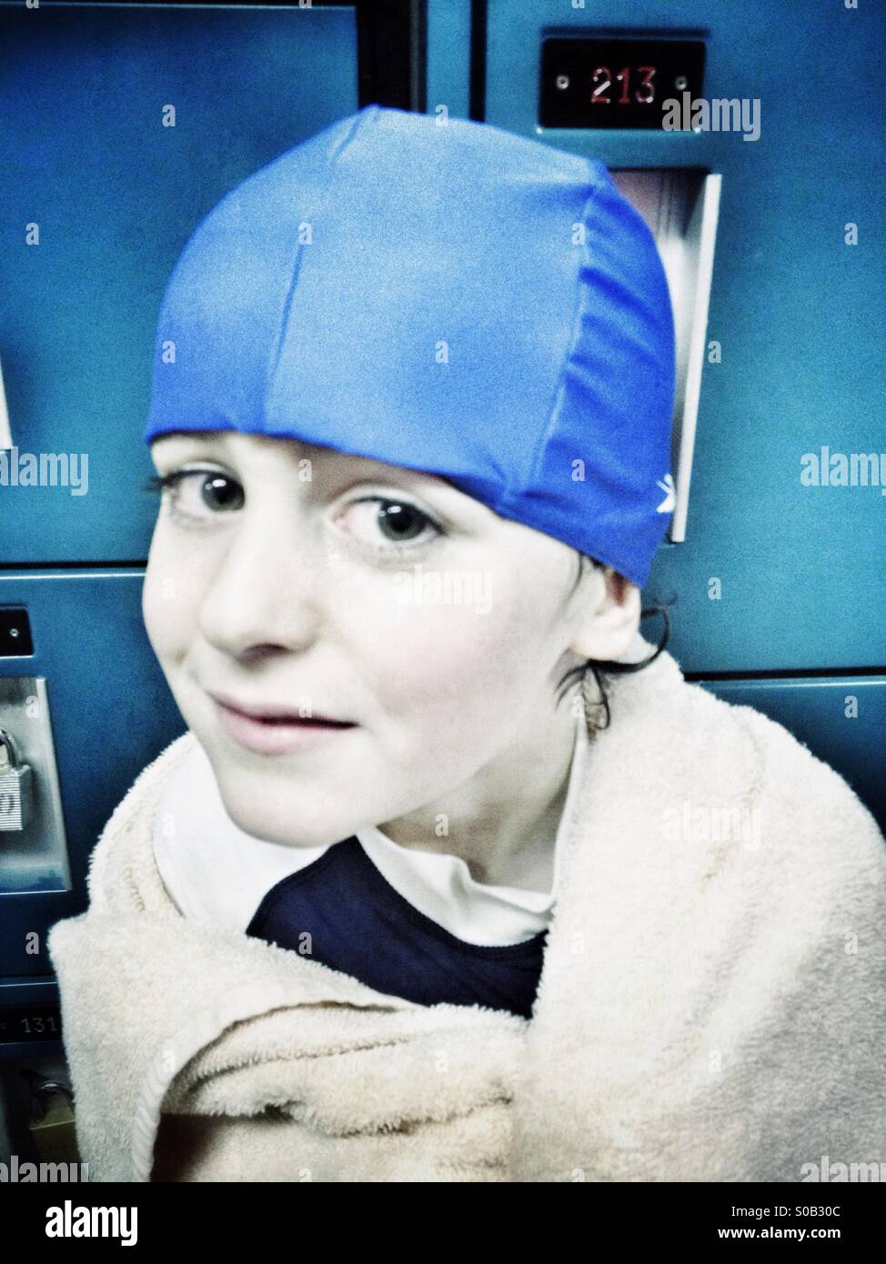 Young swimmer - Stock Image