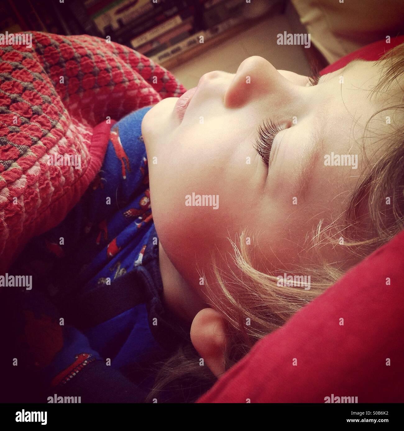 Child sleeping - Stock Image