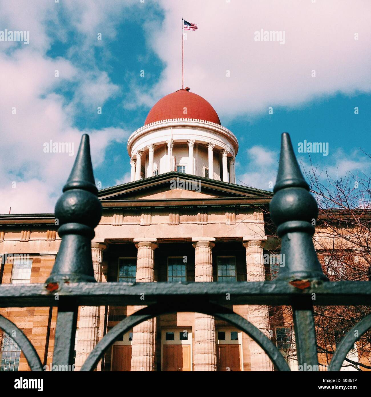 Old State Capitol in Springfield, Illinois - Stock Image