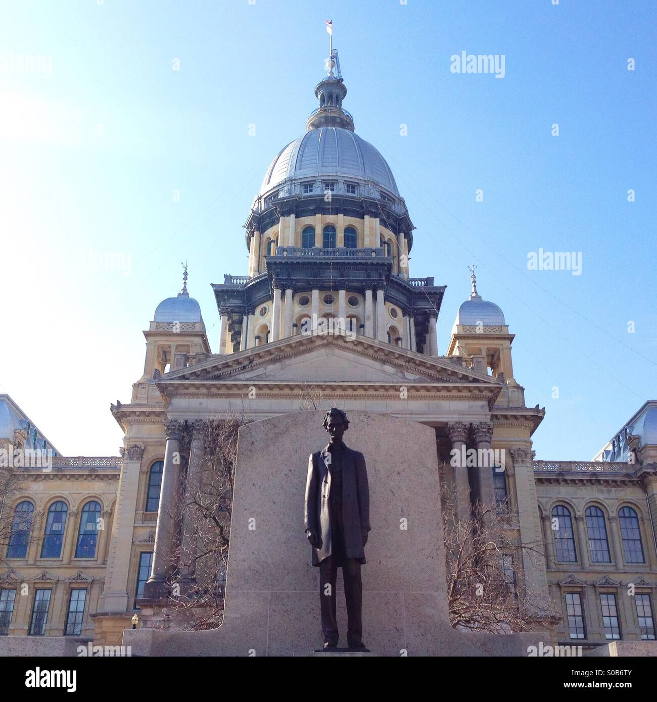 Illinois State Capitol Building in Springfield, Illinois - Stock Image