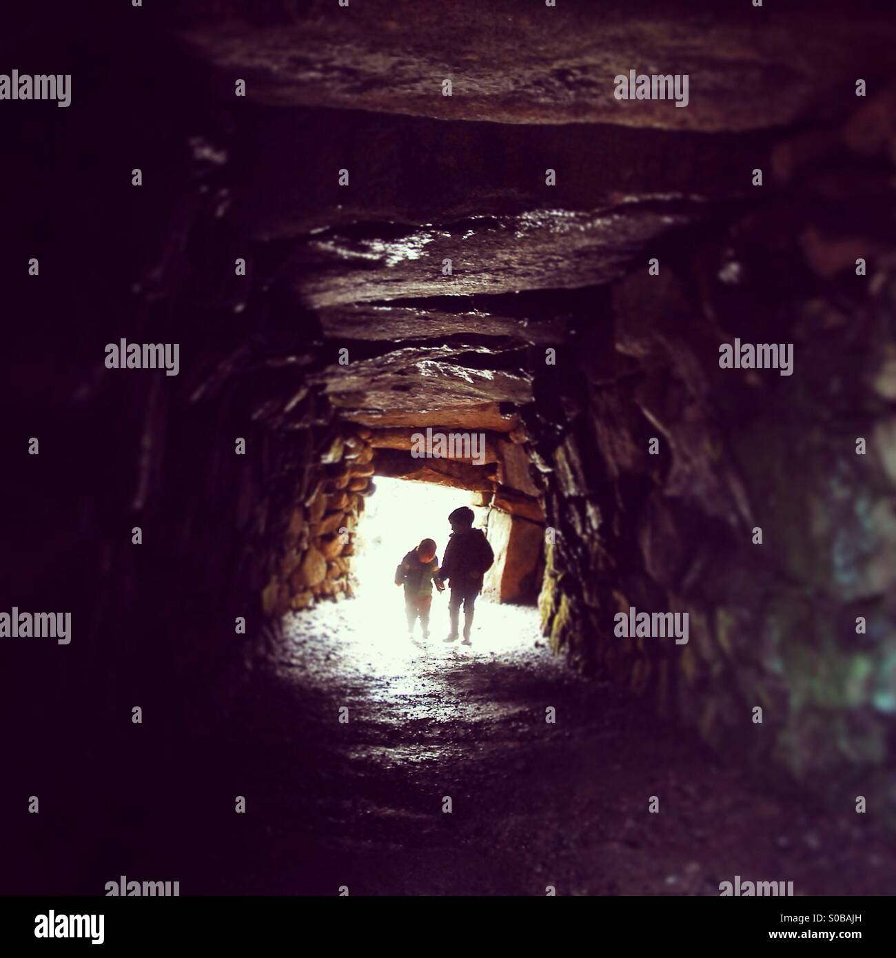 Cave dwellers Stock Photo