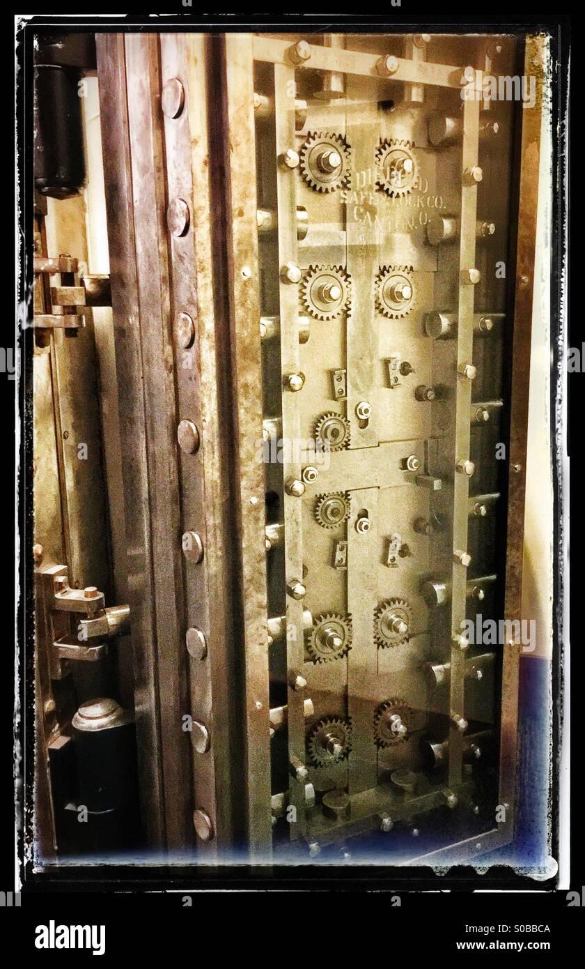Vault door - Stock Image