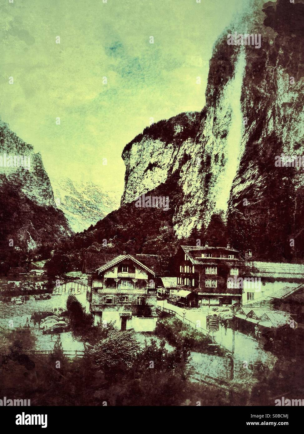Swiss mountain retreat - Stock Image