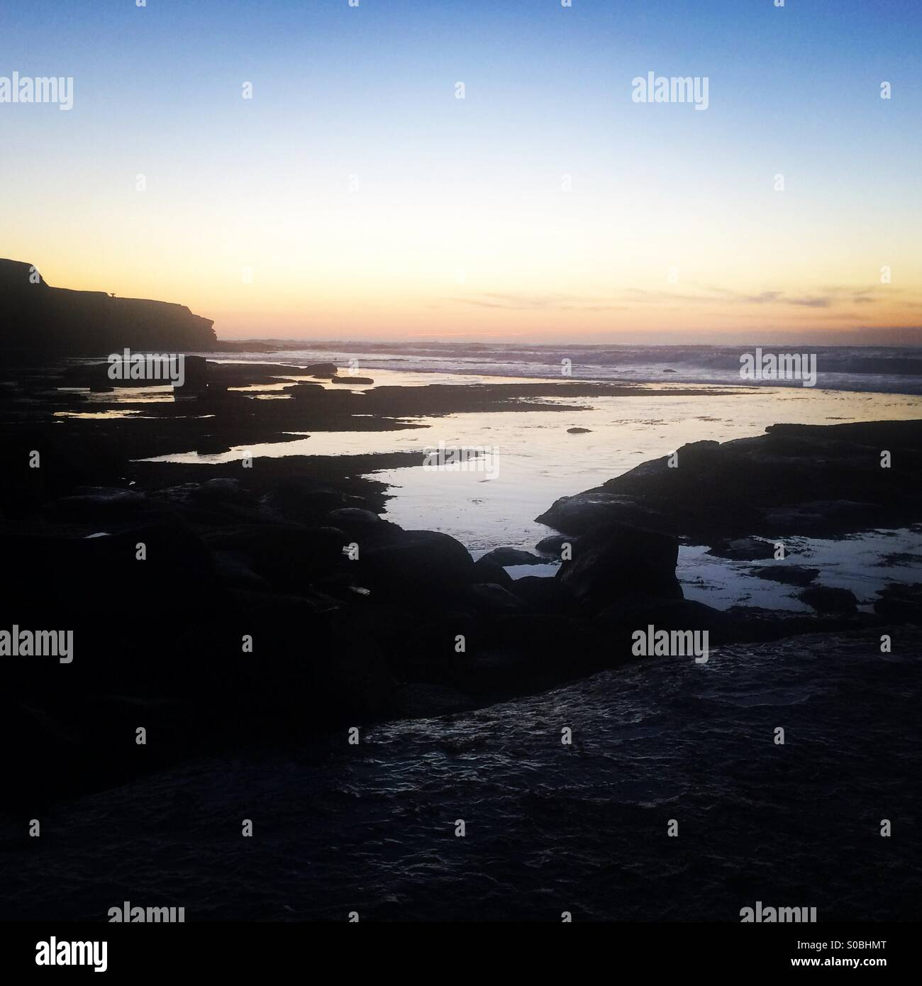 The sunset peaks - Stock Image