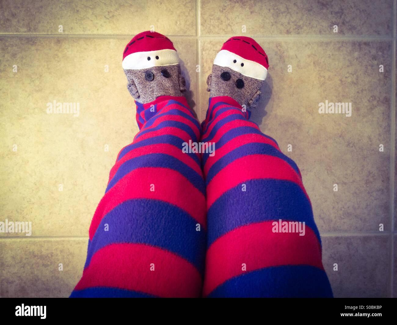 One piece adult monkey pajamas - Stock Image