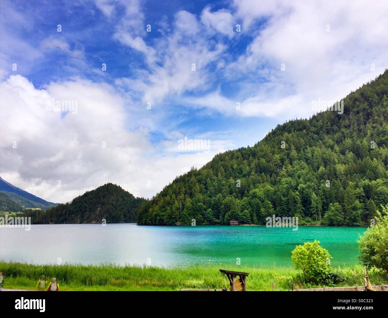 Lake in Austria Stock Photo