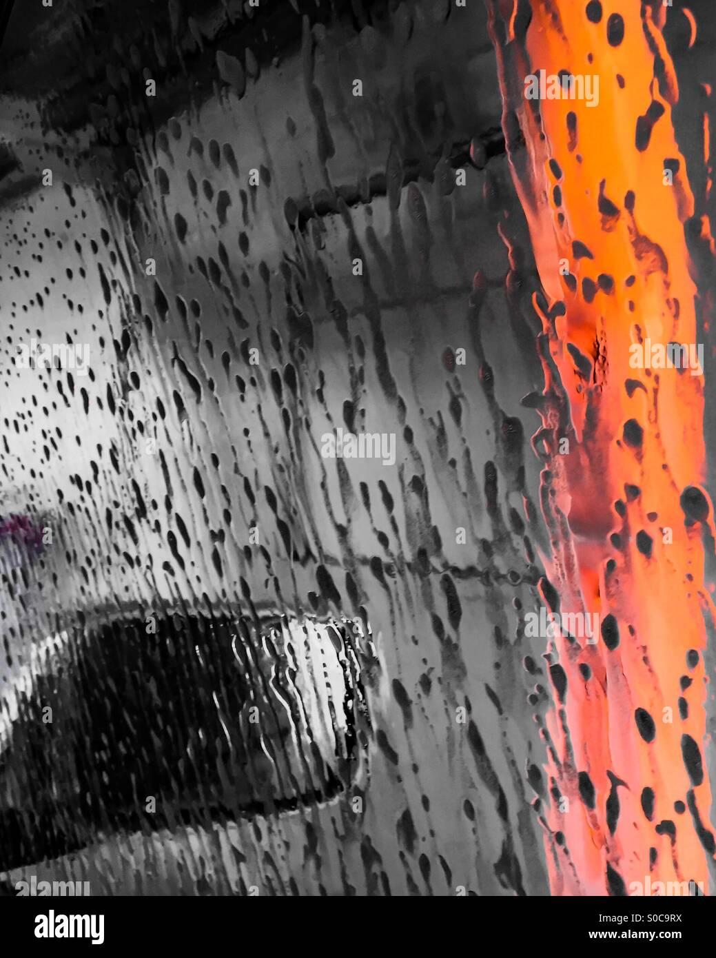 At the car wash. - Stock Image