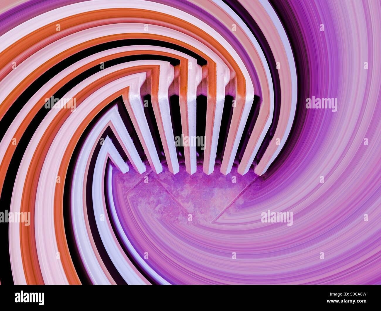 Radiator radiating - Stock Image