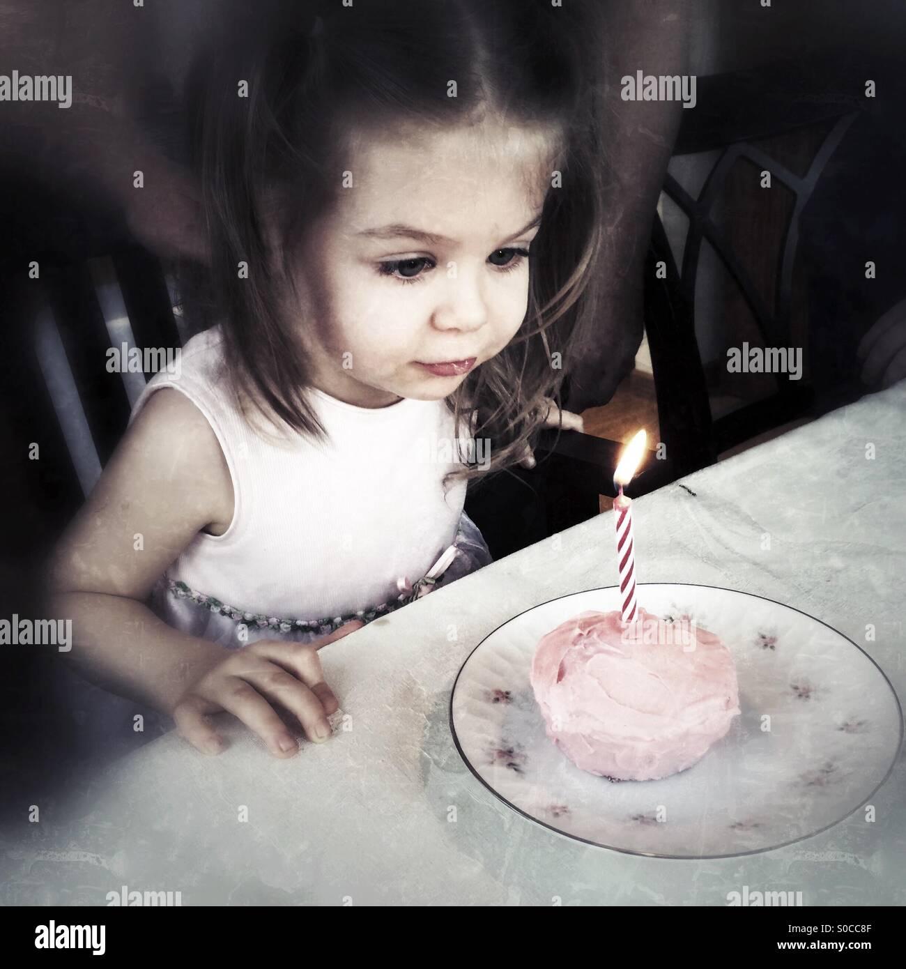 Birthday Candle - Stock Image
