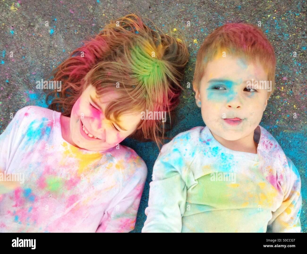 Coloured powder - Stock Image