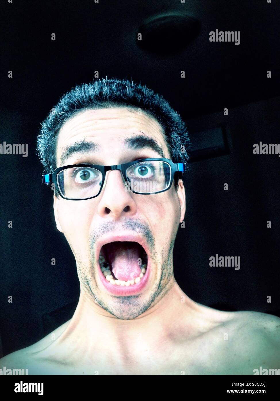 Scared face - Stock Image