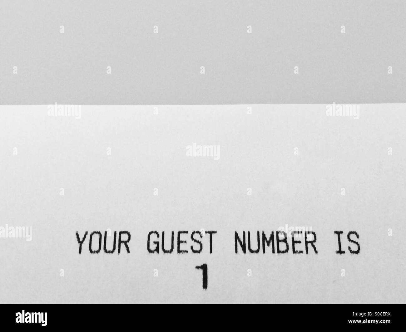 Customer number 1, the first in line - Stock Image