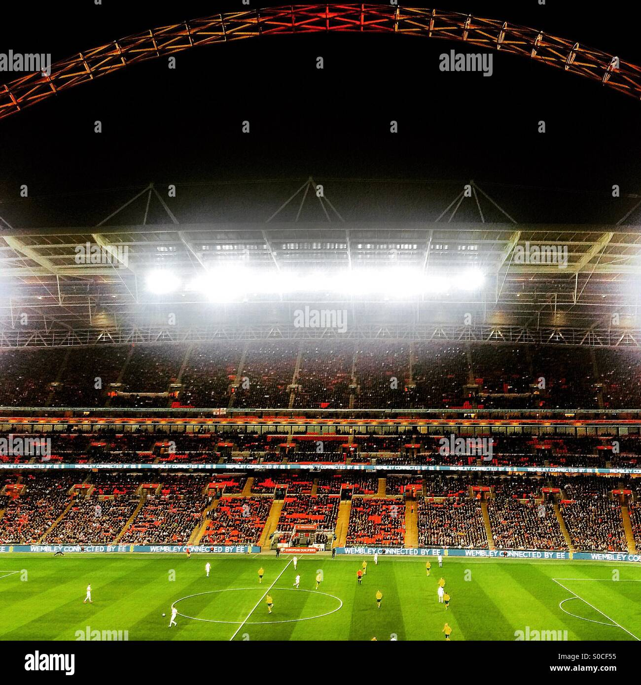 England Vs Lithuania, Wembley Stadium - Stock Image