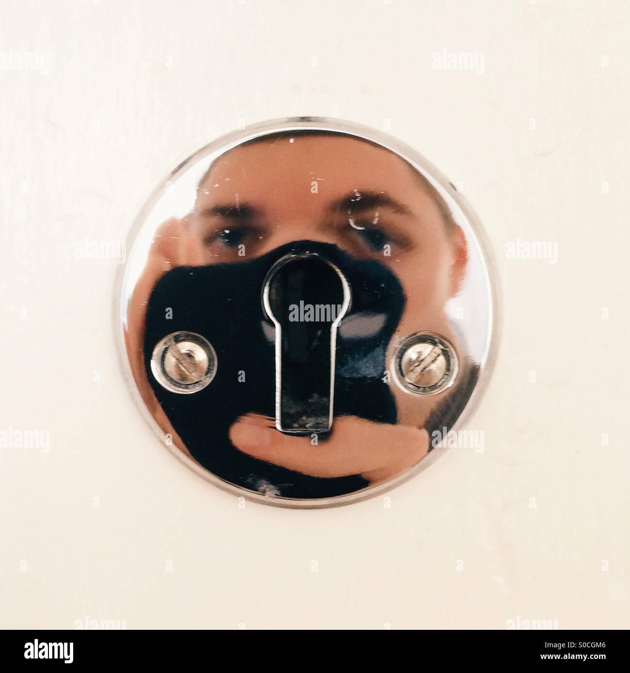 Keyhole reflection. - Stock Image