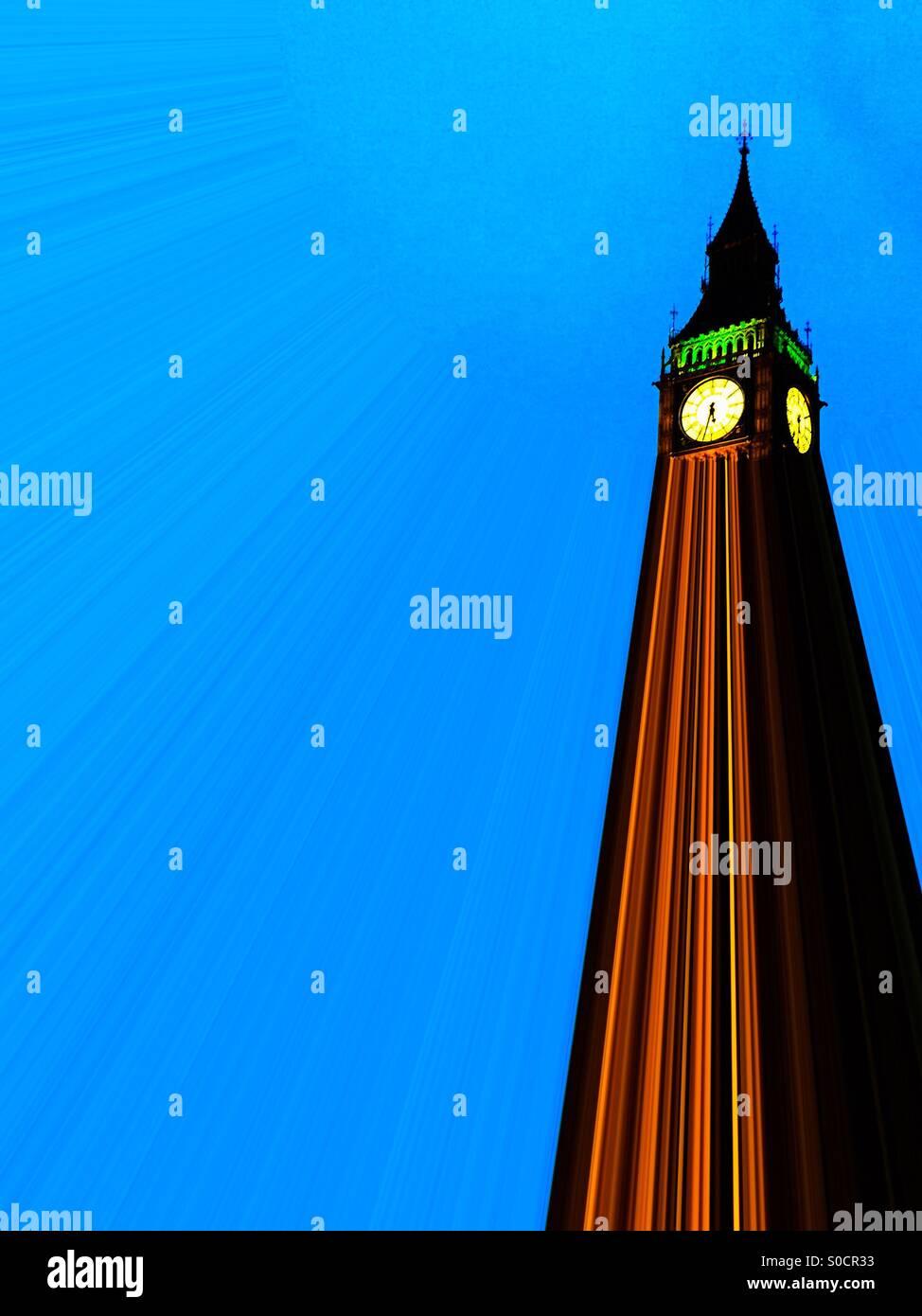 Big Ben projected - Stock Image
