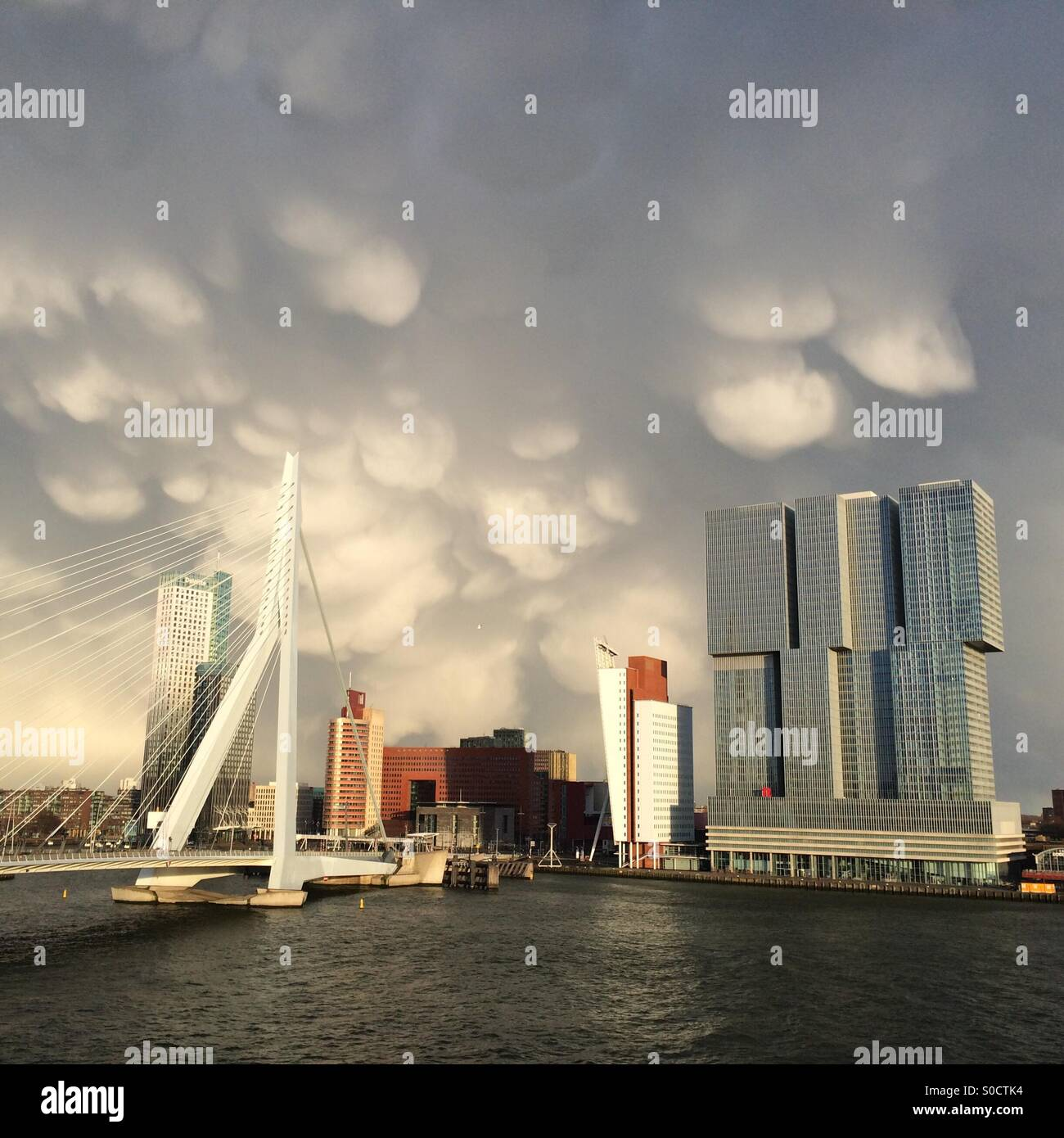 Funny clouds - Stock Image