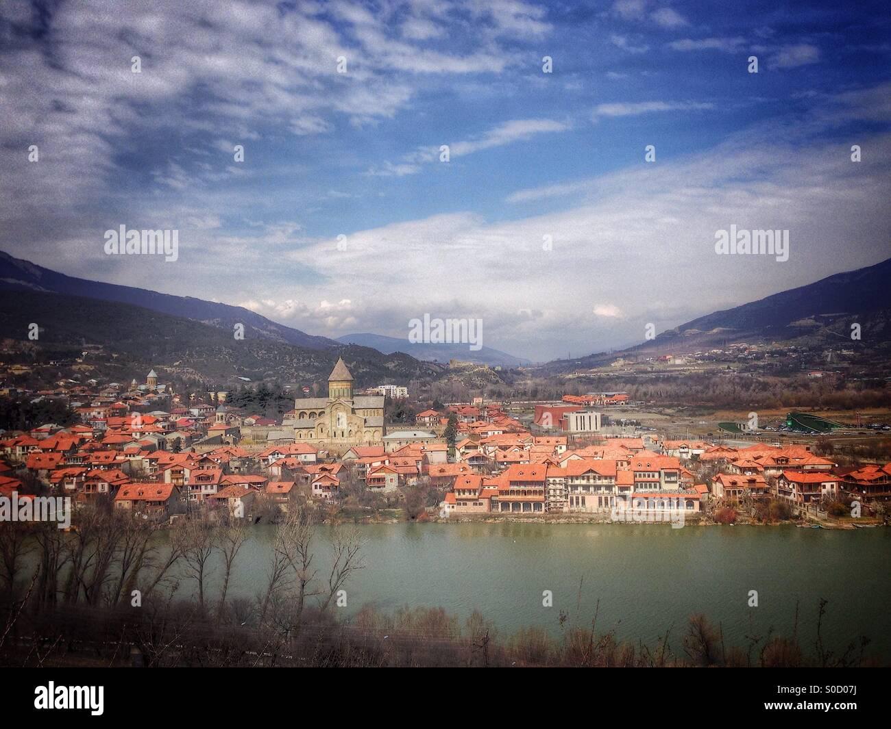 Mtskheta town Georgia, Asia. - Stock Image