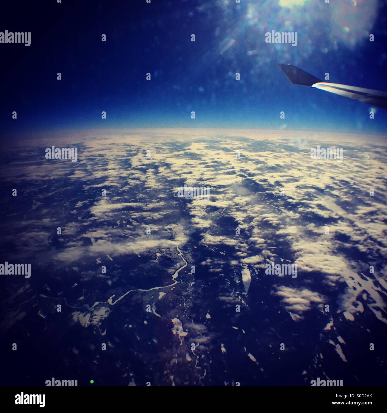 Looking out at the curvature of the earth Stock Photo: 310073867 - Alamy