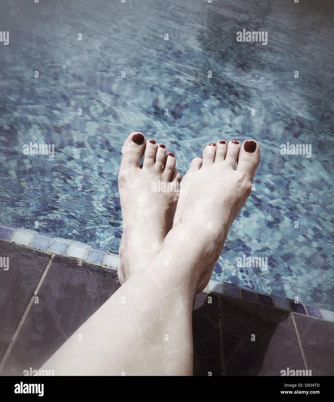 Feet resting - Stock Image