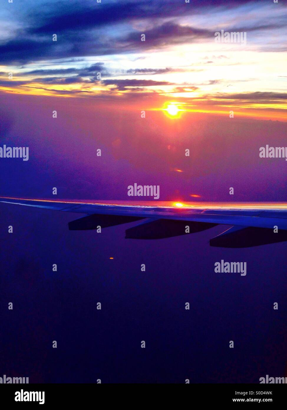 Parallel to the rising sun - Stock Image