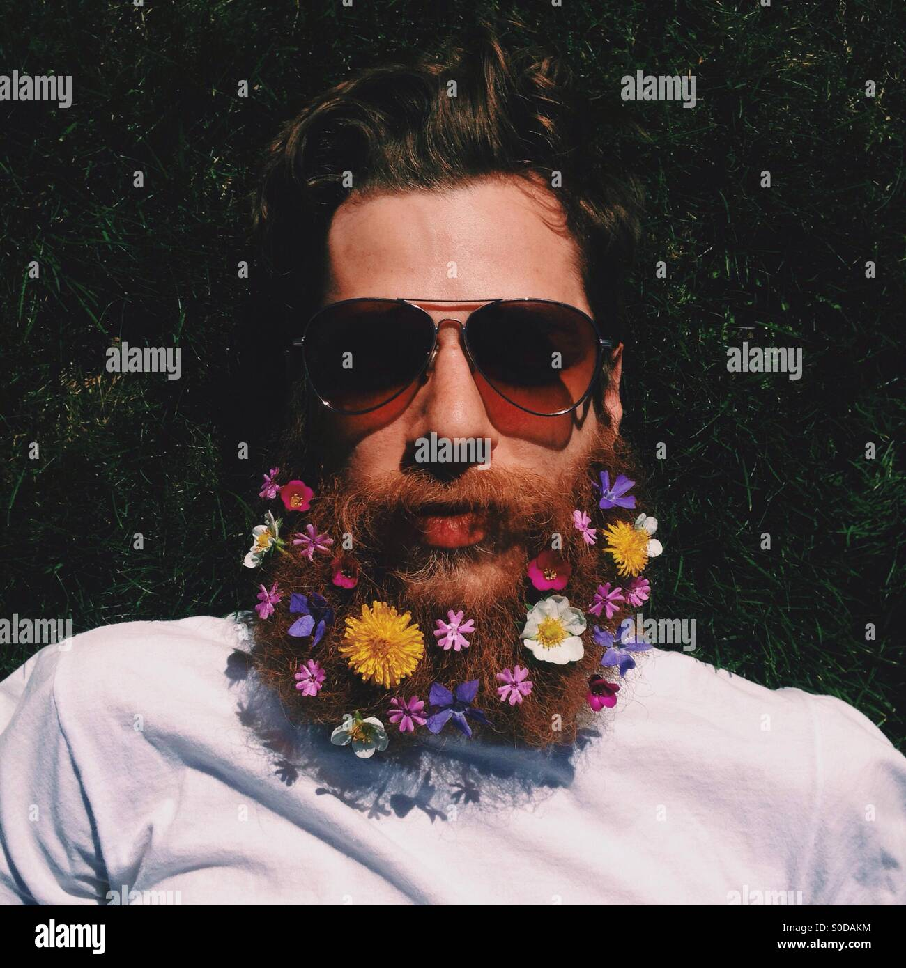 Flower Beard - Stock Image