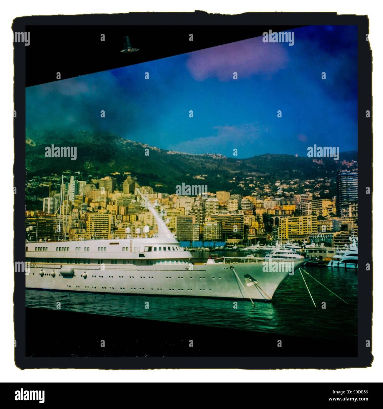 France, Monaco, cruise ship in a port of Monaco Stock Photo