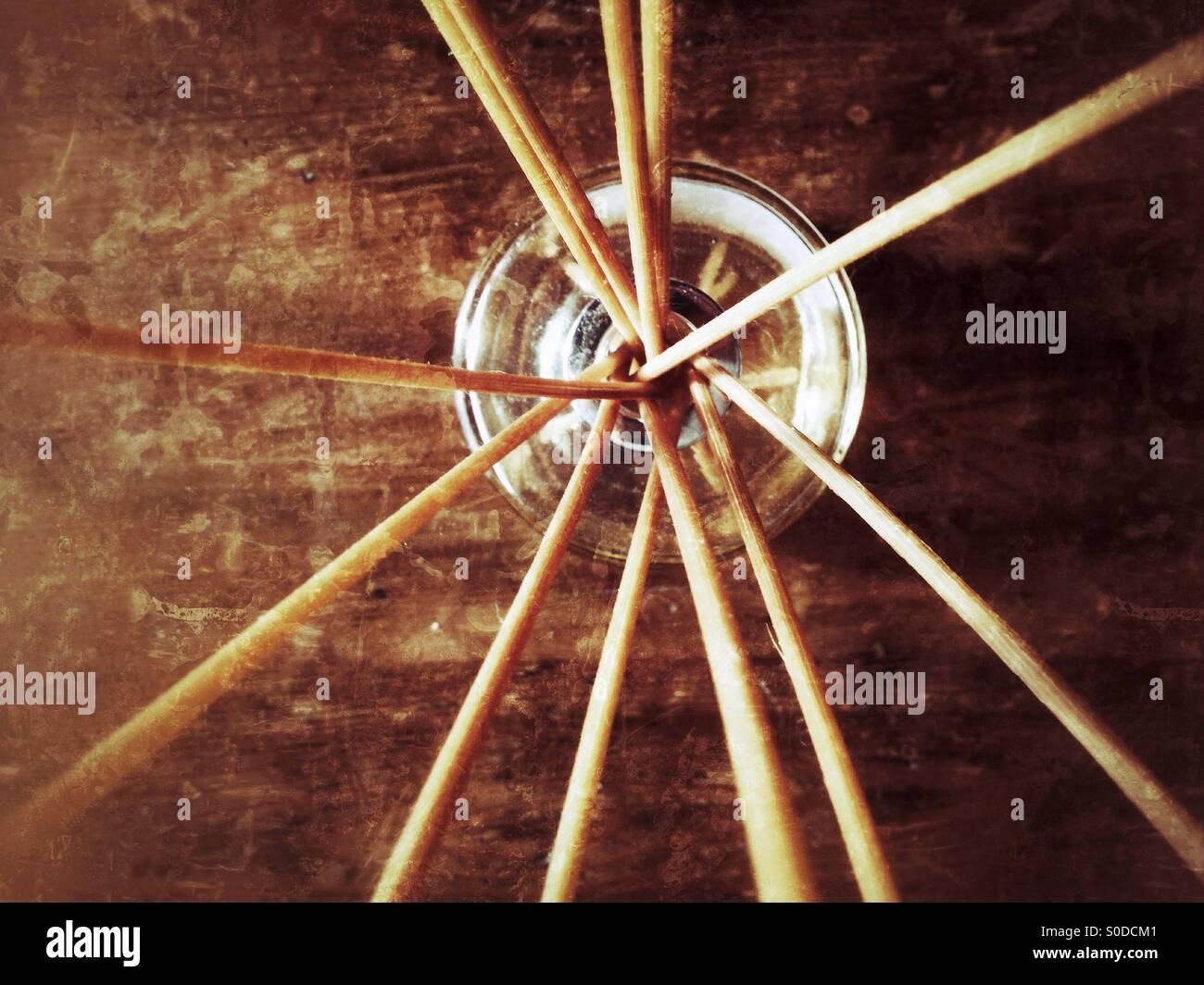 Scented sticks - Stock Image