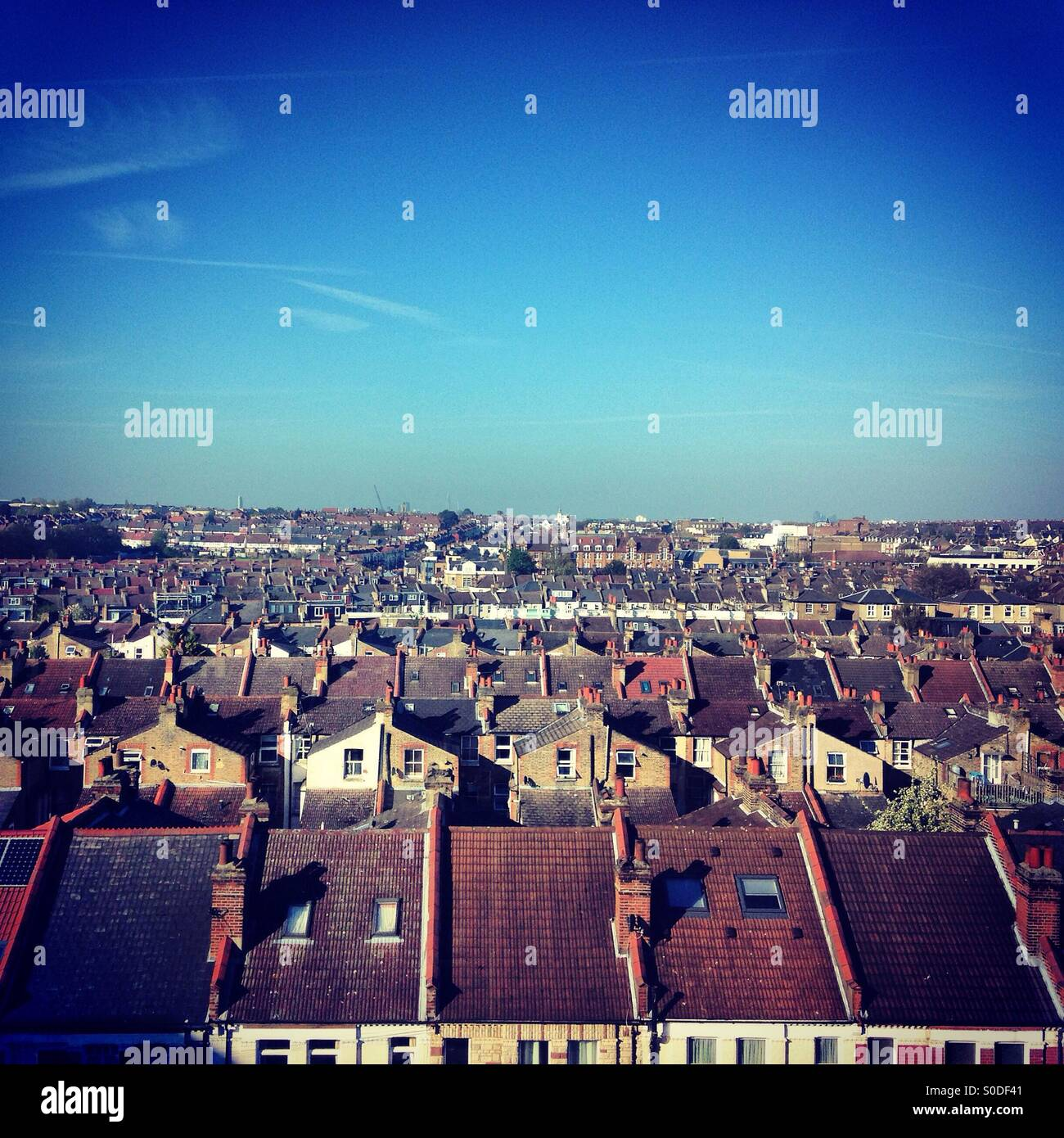 View from St George's hospital looking towards Tooting, London - Stock Image