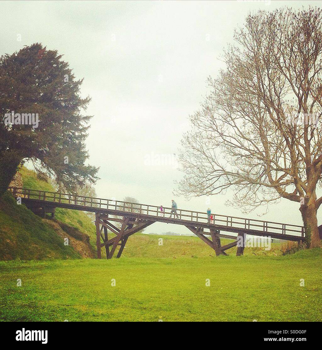 Old Sarum, Wiltshire, England, UK Stock Photo
