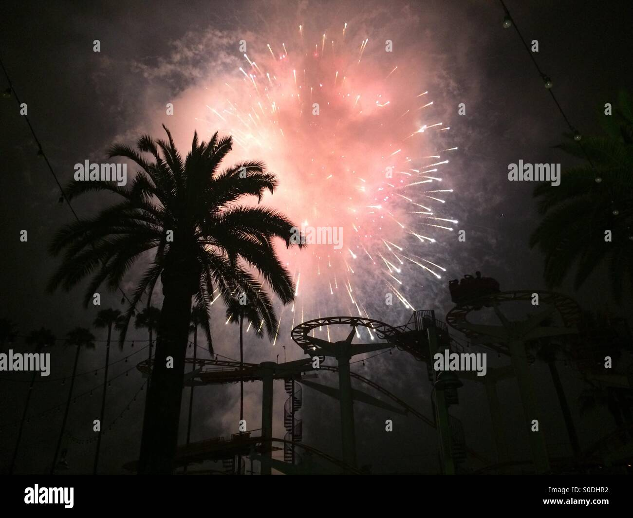 Fire works - Stock Image