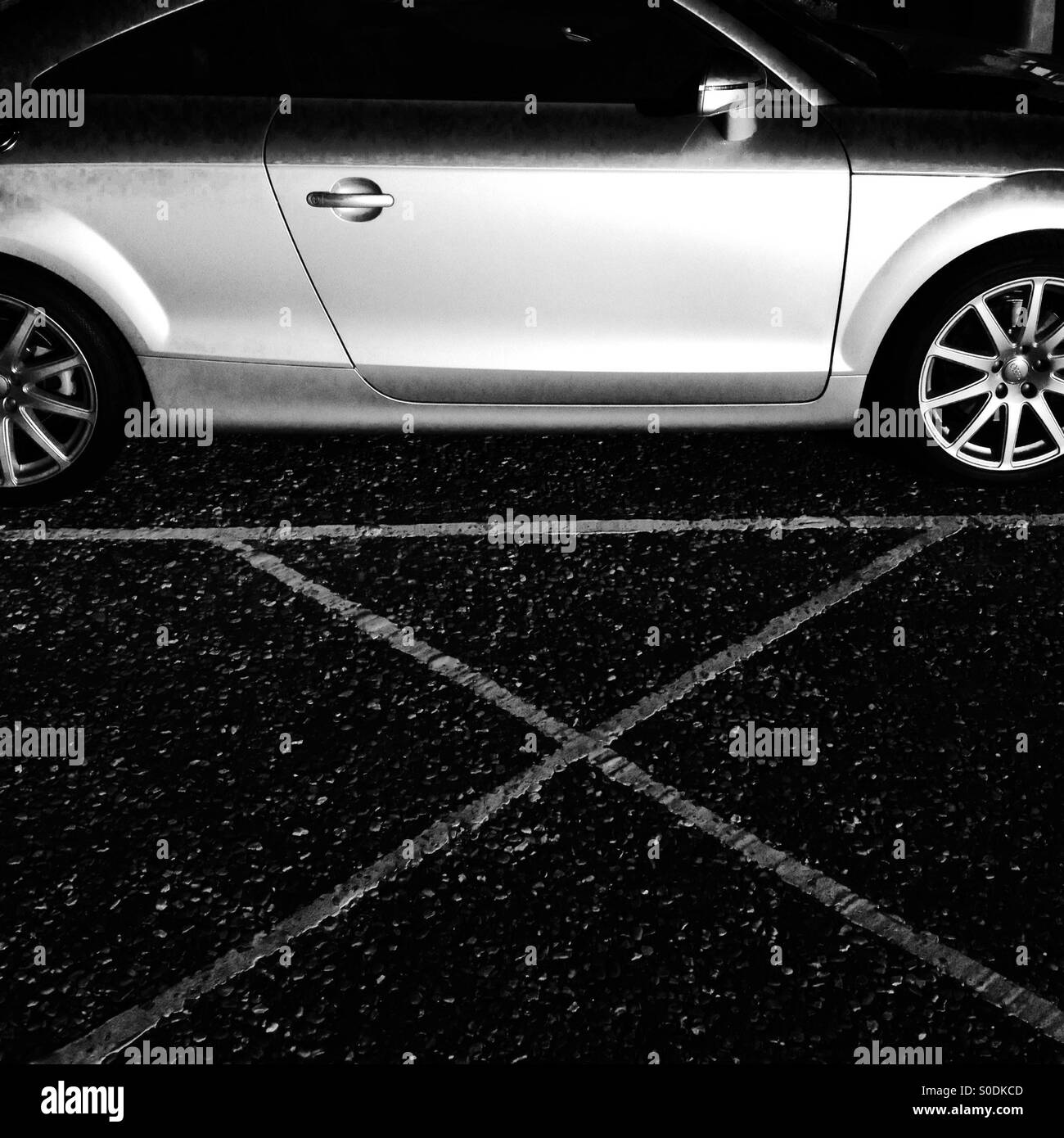 Audi Car Black And White Stock Photos & Images