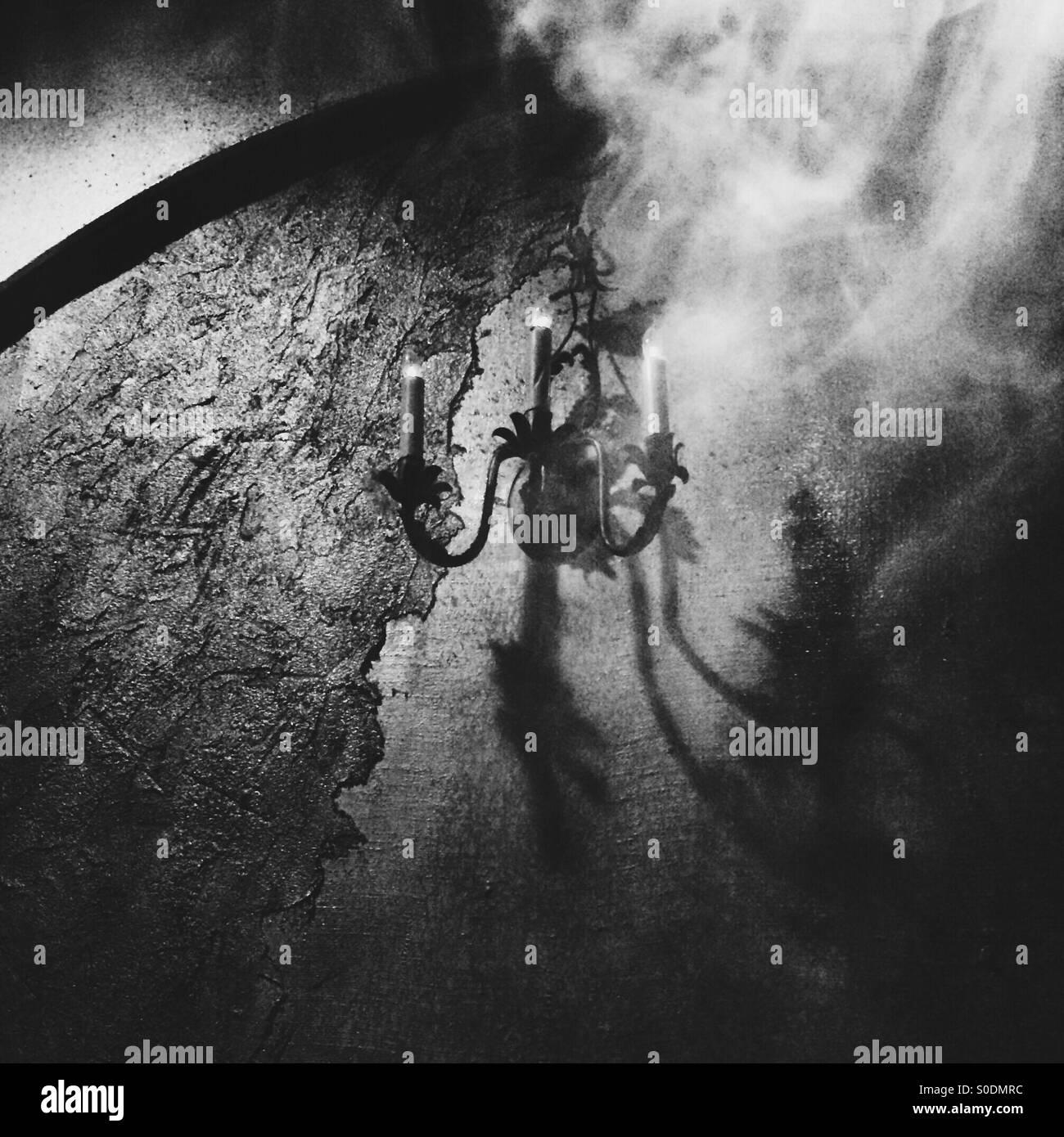 Enveloping darkness - Stock Image