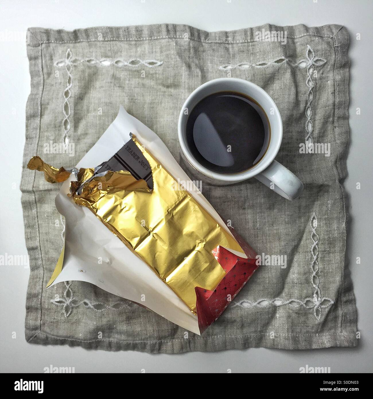 Coffee and chocolate - Stock Image