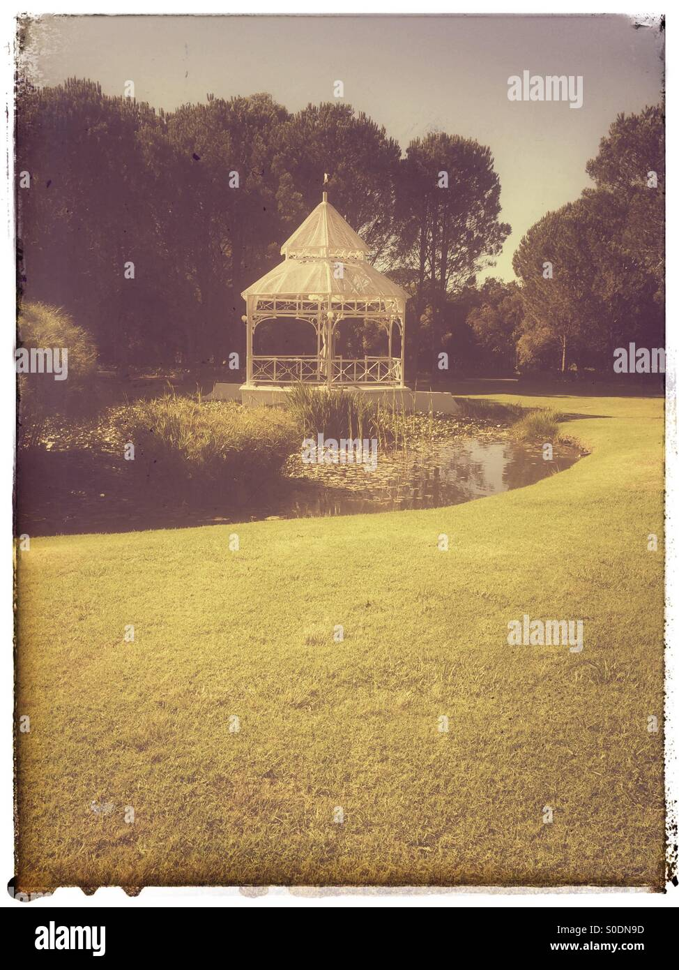 Bandstand at Boschendal Estate in the Cape Winelands . - Stock Image