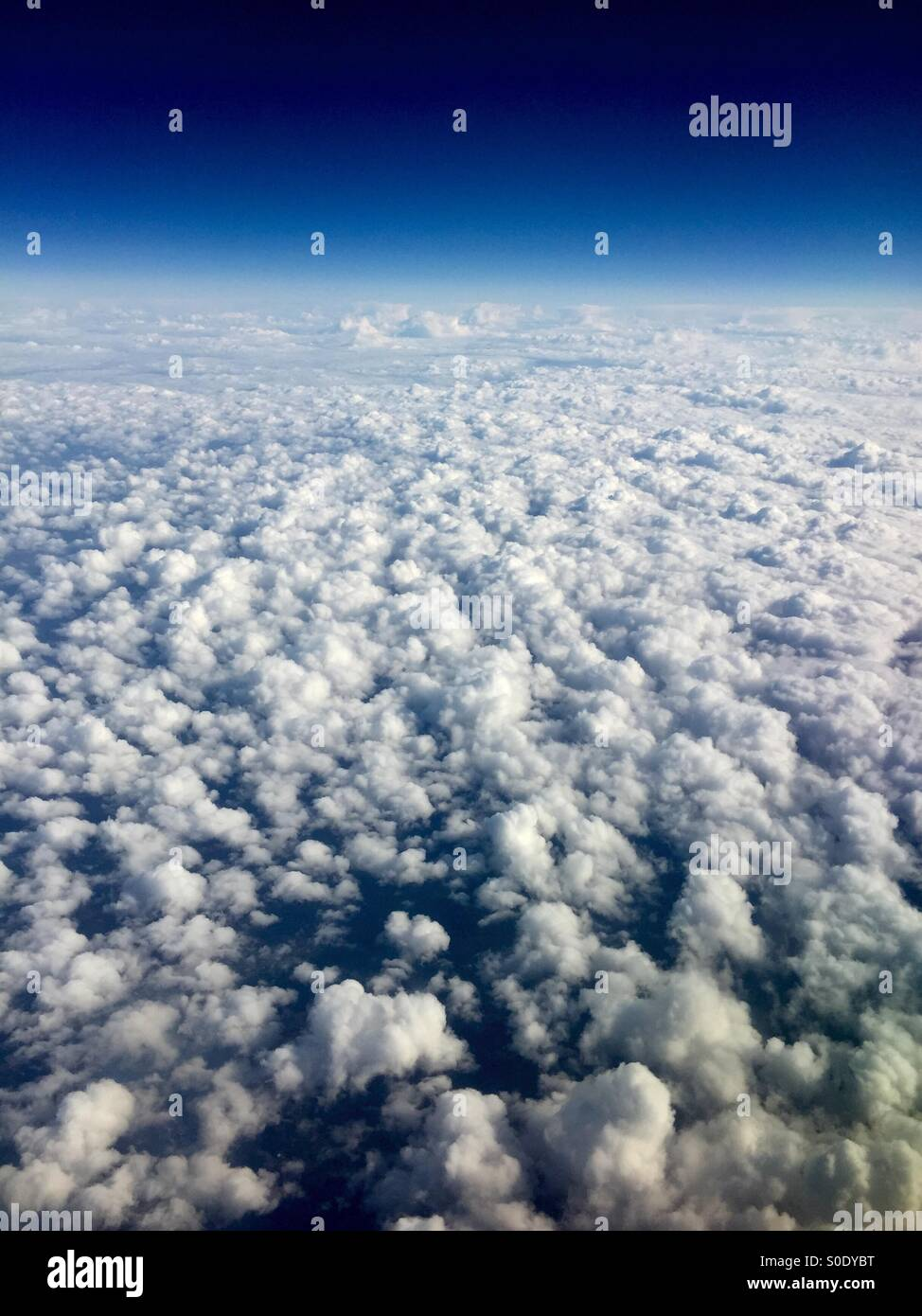 Candy floss clouds - Stock Image