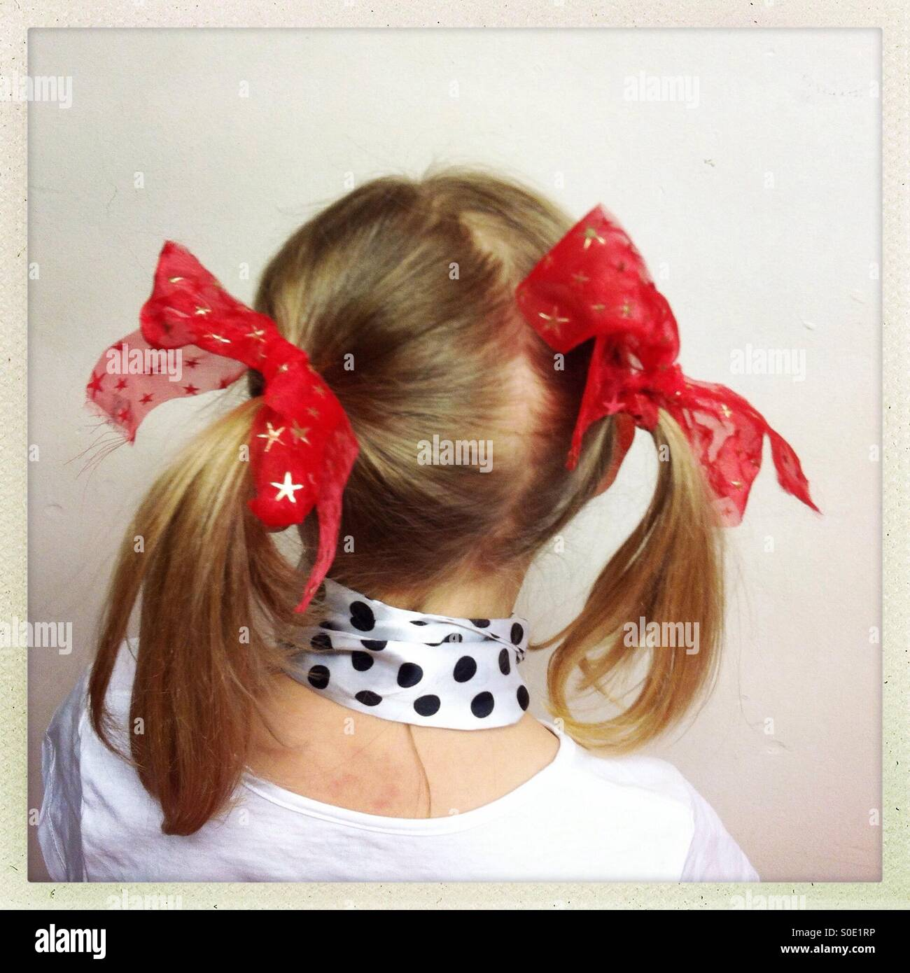 Bunches and ribbons - Stock Image