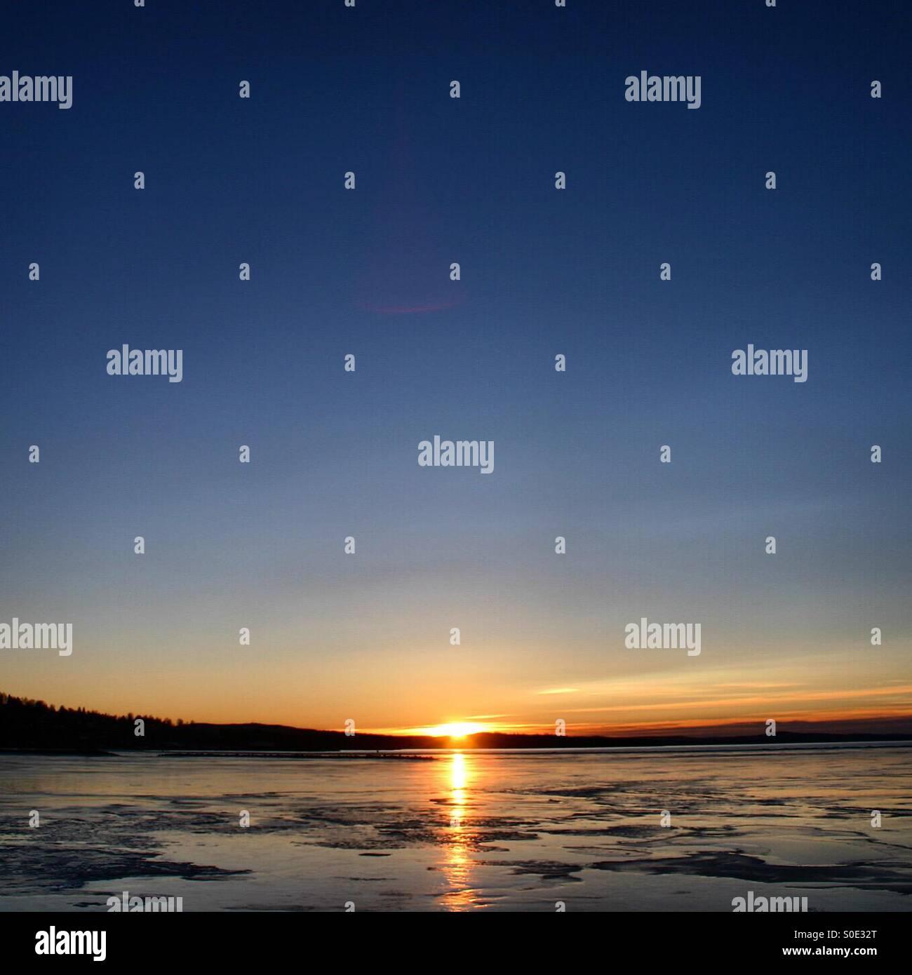 The lake Siljan in Dalarna, Sweden - Stock Image