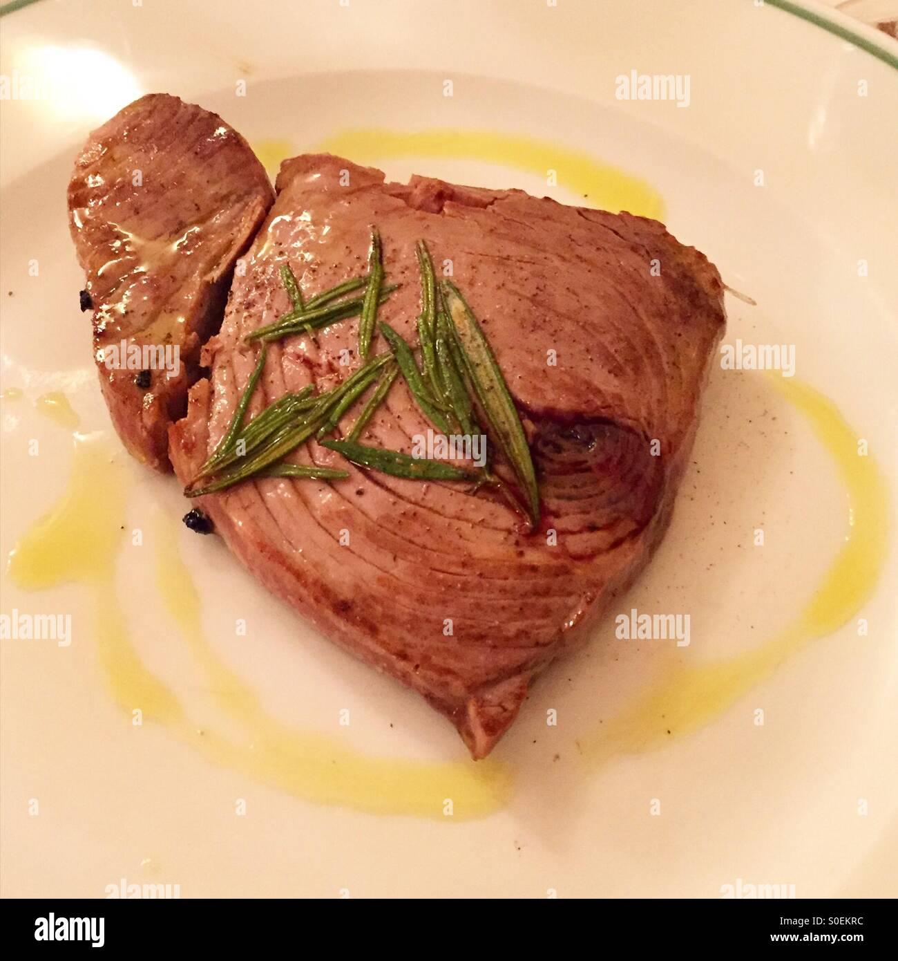 Tuna stake - Stock Image