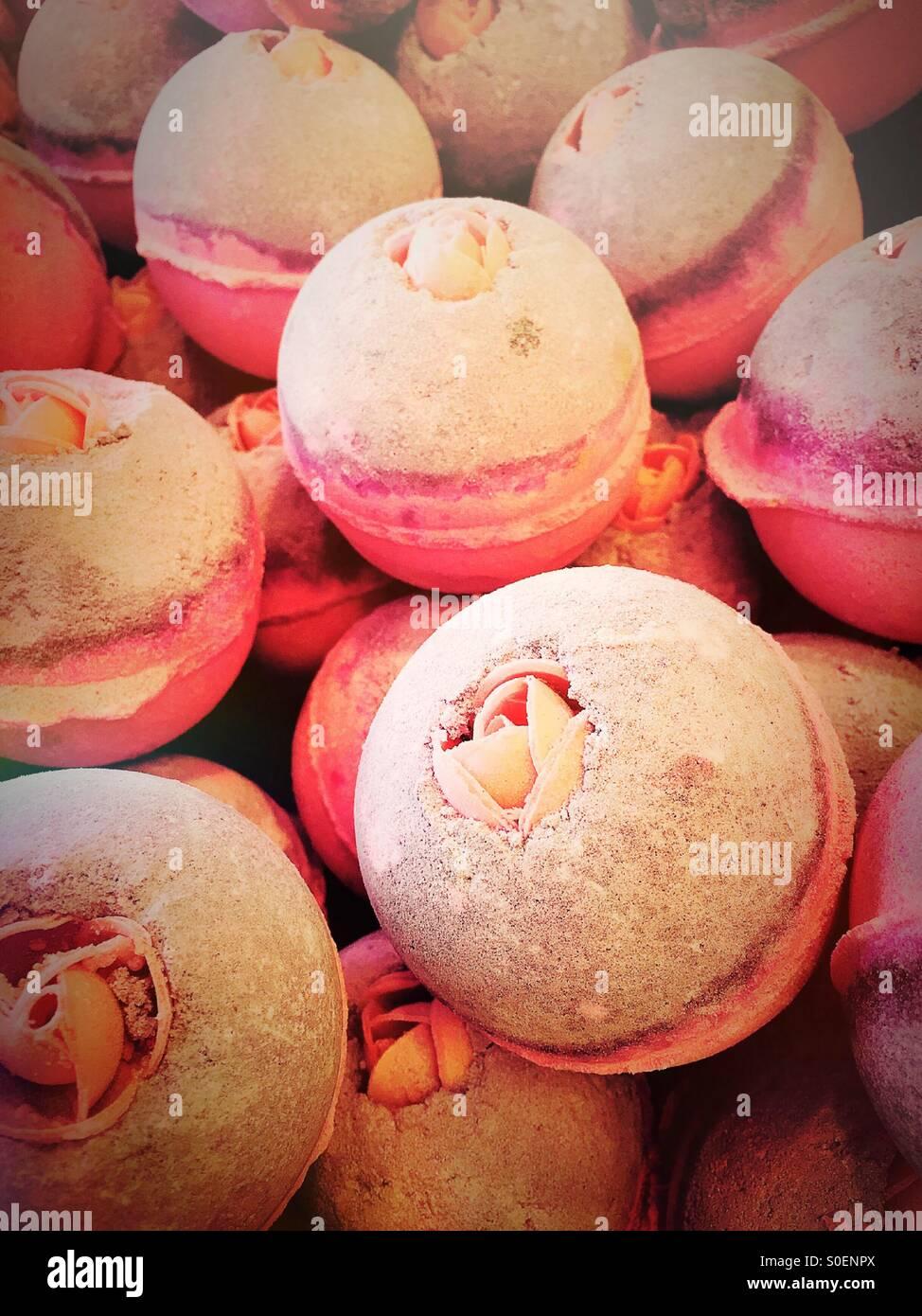 Bubble bath bomb at Lush Cosmetics - Stock Image