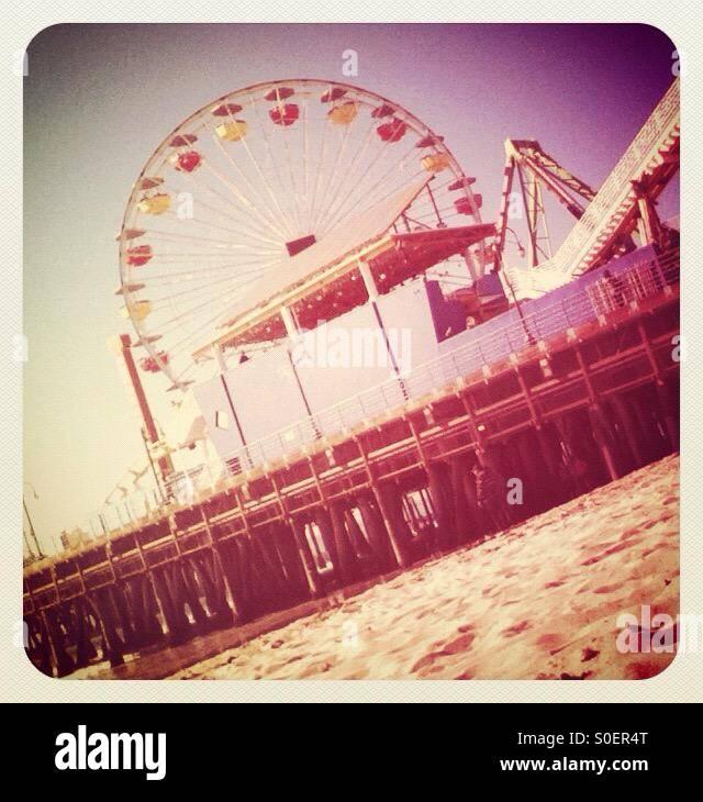 Santa Monica Pier, Los Angeles Stock Photo