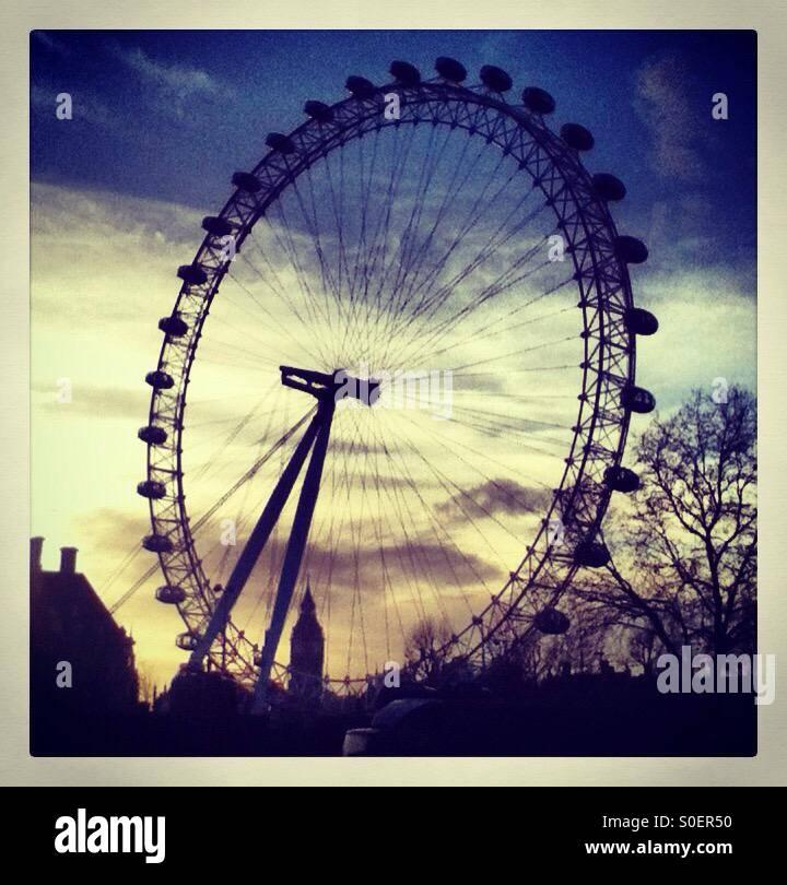 London Eye, England Stock Photo