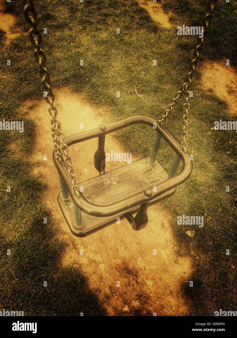 Empty swing - Stock Image