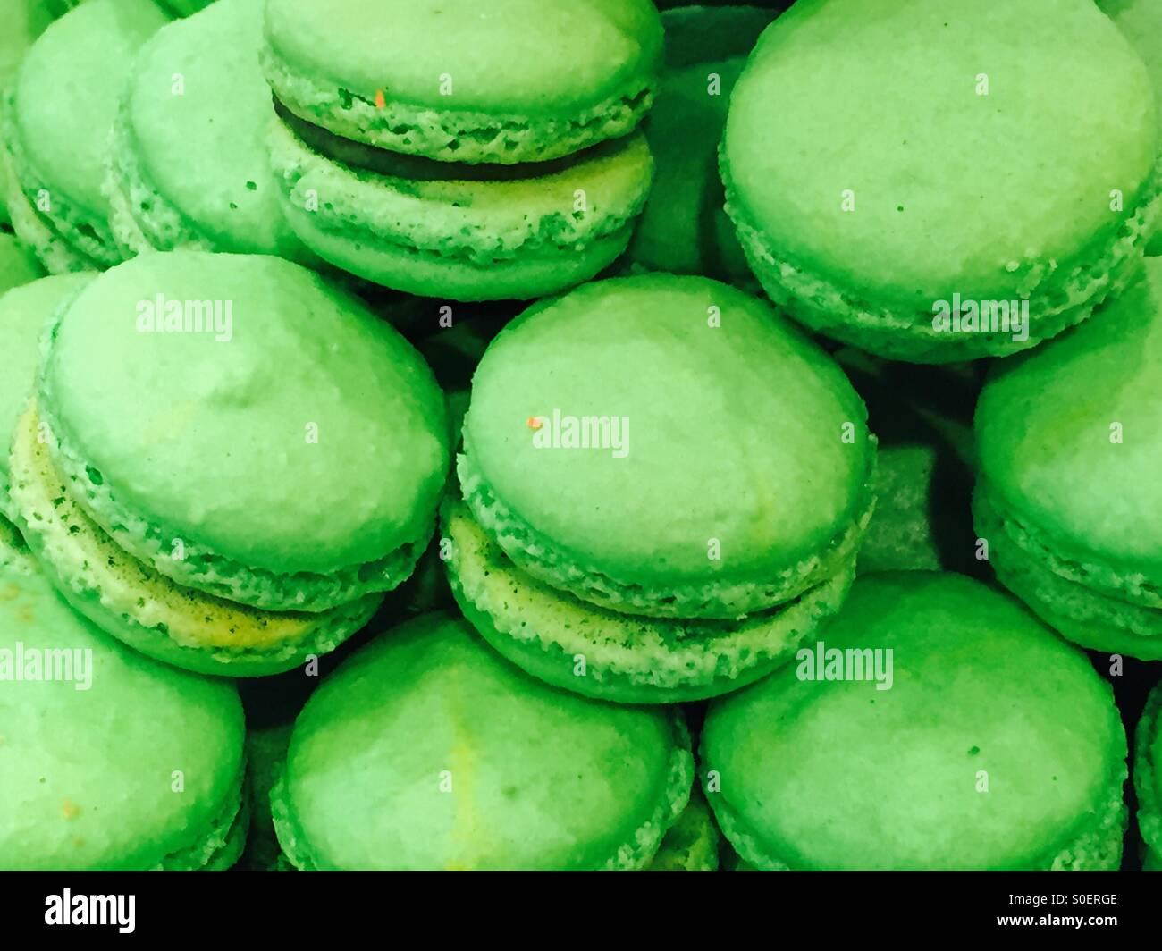 Pistachio macarons - Stock Image