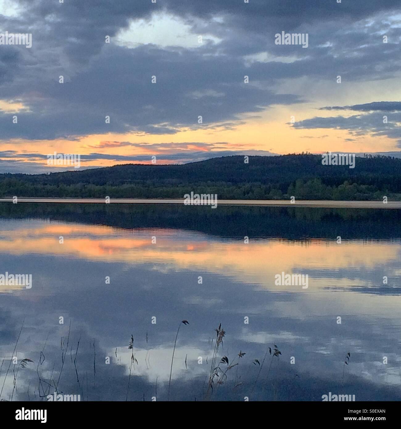 The lake Lilla Aspan in Dalarna, Sweden. - Stock Image