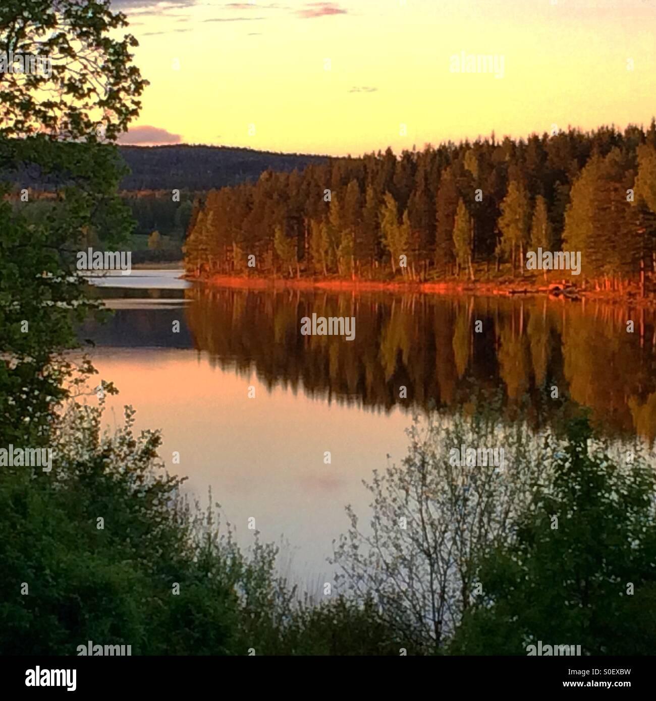 The lake Lilla Aspan in Dalarna, Sweden - Stock Image