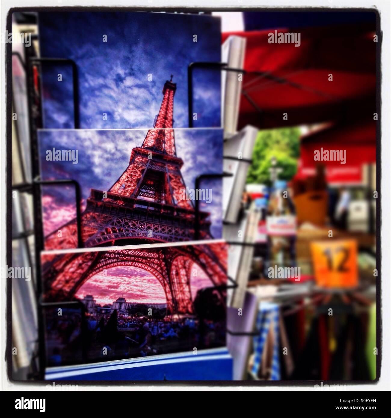 Paris Postcards - Stock Image
